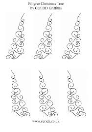 filigree christmas tree template royal icing ideas pinterest