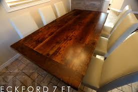 how to finish a table top with polyurethane reclaimed wood kitchen table in kitchener ontario blog