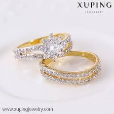 model wedding ring 11387 xuping 2pcs set multicolor gold new model wedding ring