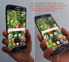 wallpaper for note edge screen samsung galaxy s6 edge how to enable and use wallpaper motion