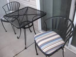 mesh wrought iron patio furniture vintage meadowcraftght iron glass top table chairs dining garden