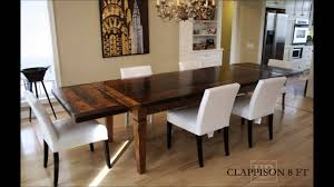 Harvest Dining Room Table Reclaimed Wood Harvest Tables Youtube