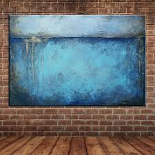 aliexpress com buy modern abstract blue oil painting large aliexpress com buy modern abstract blue oil painting large canvas art wall mural picture decoration no frame from reliable oil painting suppliers on