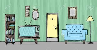 Wohnzimmer Retro Coole Vintage Wohnzimmer Retro Hintergrund Lizenzfrei Nutzbare