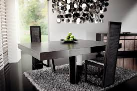black modern dining room sets dark wood dining table by rattanwood