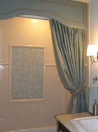 bathroom valances ideas bathroom curtain ideas cornice shower curtain this is so