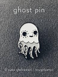 ghost octopus enamel pin by boygirlparty halloween pins u2013 the