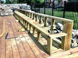 how to build deck bench seating deck seating deck bench seat yelp more built in deck seating