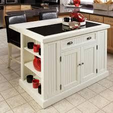 dark brown island with open shelves dark brown kitchen cabinets