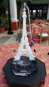 Eiffel Tower Table Centerpieces Styled Ice Inc Table Centerpieces