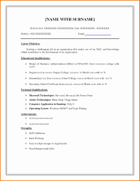 exle of resume template 13 fresh blank resume template resume sle template and format