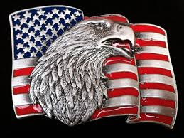 Country American Flag Eagle American Usa Flag Belt Buckle