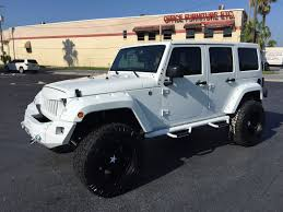jeep wrangler on 24s 2017 jeep wrangler unlimited white out 24s hardtop leather florida