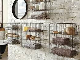 Bathroom Wall Shelves Wood by Decorative Wire Wall Shelving