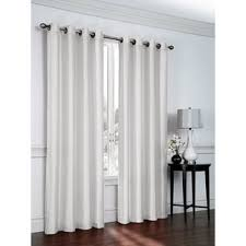White Faux Silk Curtains Faux Silk White Curtains Wayfair