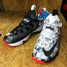 Nike Lebron 13 nike lebron 13 low graffiti black white sneakerfiles