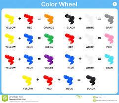 color wheel worksheet for kids stock vector image 48711224