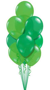balloon delivery baton different shades of green balloons wedding ideas
