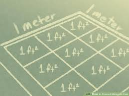 meter to square feet how to convert meters to feet with unit converter wikihow
