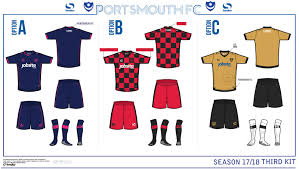 Design A Kit Home by Portsmouth Opens 2017 18 Home Away U0026 Third Kit Vote Footy Headlines