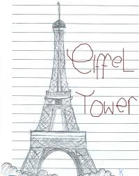 deviantart more like eiffel tower sketch by k by