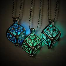 jewelry lady necklace images New charm hollow box cute locket glow in the dark pendant necklace jpg