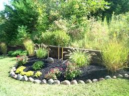 Rock Vegetable Garden Rock Border Landscaping Garden Design With Landscape With