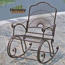 wrought iron rocker patio chairs 17670