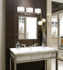 Stainless Steel Sink With Bronze Faucet Bathroom Vanity Lights Bronze Brown Finish Laminated Wooden Plank