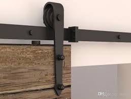 Sliding Closet Door Kit 2018 5 8ft Modern Rustic Black Arrow Wheel Sliding Barn Door