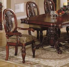 traditional dining room sets finish traditional dining room w hand carved details