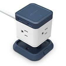 l with outlet in base bestek compact power strip travel cube 3 outlet and 4 usb charging