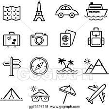 travel symbols images Vector art travel symbols and tourism signs vector clipart jpg