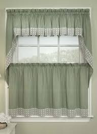 eden kitchen curtains sage lichtenberg sheer swag for tier swags