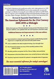 Longitude Position In A Time by The American Ephemeris For The 21st Century 2000 2050 At Midnight