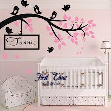compare prices on baby names birds online shopping buy low price birds branch wall sticker vinyl decal kid nursery baby decor personalised name wall stickers for kids