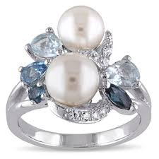 pearl and diamond engagement rings pearl rings shop the best deals for nov 2017 overstock