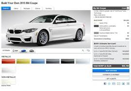 2015 bmw m4 coupe price 2015 bmw m4 coupe configurator hits the web the wheel
