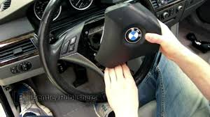 bmw 5 series e60 e61 2004 2010 driver airbag how to remove