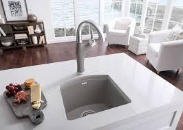 blanco metallic gray sink granite kitchen sinks odd shaped blanco silgranit metallic gray