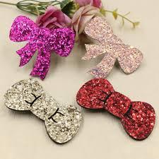 glitter ribbon wholesale wholesale 50pcs glitter ribbon knot bow patch sticker craft fit