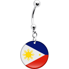 Philippines Flag Philippines Flag Belly Ring U2013 Bodycandy