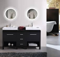 led 22 u2033 round bathroom mirror lighted with dimmer u0026 defogger krugg