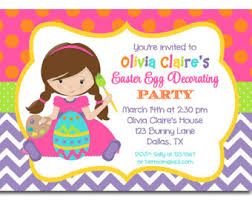 Easter Egg Decorating Party Invitations by Halloween Kids Costume Party Invitation Printable Or Printed