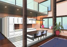 draw with two point perspective making beautiful interiors