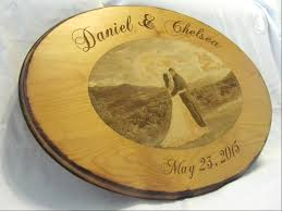 engraved wedding guest book guest book alternative custom wood sign with engraved photo