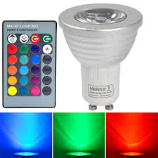 Remote Controlled Light Fixture by 10pcs Gu10 3w Led Rgb Light 16 Colour Changing Smd Leds Led