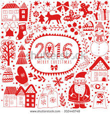 christmas greeting card template vector merry stock vector