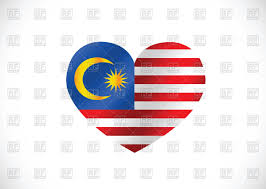 Malaysai Flag Malaysia Flag Heart Shaped Royalty Free Vector Clip Art Image