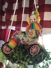 Circus Home Decor Clown A Mandolin Circus Collectible Figurine Home Decor